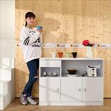 《BuyJM》鏡面防潑水三門一抽廚房櫃/餐櫃