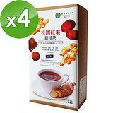 【台灣綠源寶】桂圓紅棗薑母茶(500g/盒)x4盒組