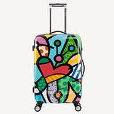 AOU & 美國BRITTO 旅行箱 24吋 TSA海關鎖 時尚潮流連線(新蝴蝶)97-001B-D3