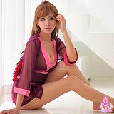 【Ayoka】紫系柔紗三件式和服角色扮演服