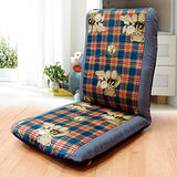 KOTAS 可愛熊熊 高背和室椅(藍)
