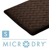 【MICRODRY時尚地墊】3D波紋記憶綿-巧克力(S)