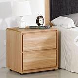 AT HOME-比克1.6尺橡木紋二抽收納櫃/斗櫃/抽屜櫃/床頭櫃