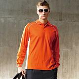 【SAIN SOU】吸濕排汗長袖POLO衫(中性款)T26033