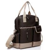 【Colorland】全新改良款大容量媽媽包-贈防雨罩(咖啡色)