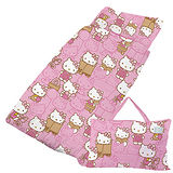 【享夢城堡】HELLO KITTY 生活日誌-精梳棉鋪棉冬夏兩用兒童睡袋