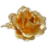 鹿港窯-立體金箔花-典藏黃金玫瑰-胸花(精緻禮盒)
