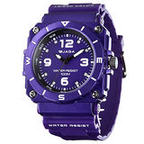 JAGA 捷卡 AQ934-J 運動休閒風指針錶-紫/52mm