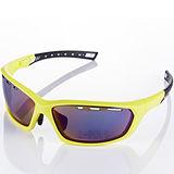 【視鼎Z-POLS】TR彈性纖維 輕量材質 弧形包覆設計 頂級運動眼鏡 (亮螢光黃)