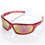 【視鼎Z-POLS】TR彈性纖維 輕量材質 弧形包覆設計 頂級運動眼鏡 (法拉利紅)