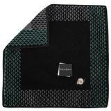 YSL 新款三角圖紋羊年限定款方巾-黑色