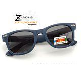 【視鼎Z-POLS兒童流行風格款】 複刻版柳釘設計 嚴選古著POLARIZED偏光UV400太陽眼鏡,新上市(消光藍)