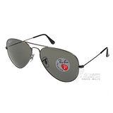 RayBan太陽眼鏡 經典好萊塢#銀-灰RB3025 00458(偏光)