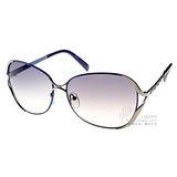 Ejing太陽眼鏡 巴洛克金屬邊框 (銀藍色) #EJS6014 C30