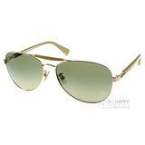 COACH太陽眼鏡 美式飛官(金-卡其)# COS7041 91748E