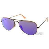 RAY BAN太陽眼鏡 水銀鏡面飛官款(古銅-葡萄紫) # RB3025 1671M -58mm