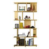 【AT HOME】洛維坦3.3X7尺栓木本色造型書櫃