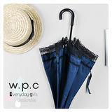 優雅上市【w.p.c.】日式洋傘*銀膠抗UV99.6%輕量手開直傘(黑色蕾絲)