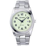 LICORNE entrée 時刻解謎日期腕錶-銀x綠/36mm