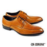 【CR Cerini】U-Tip德比鞋 蜜棕色(73692-BR)