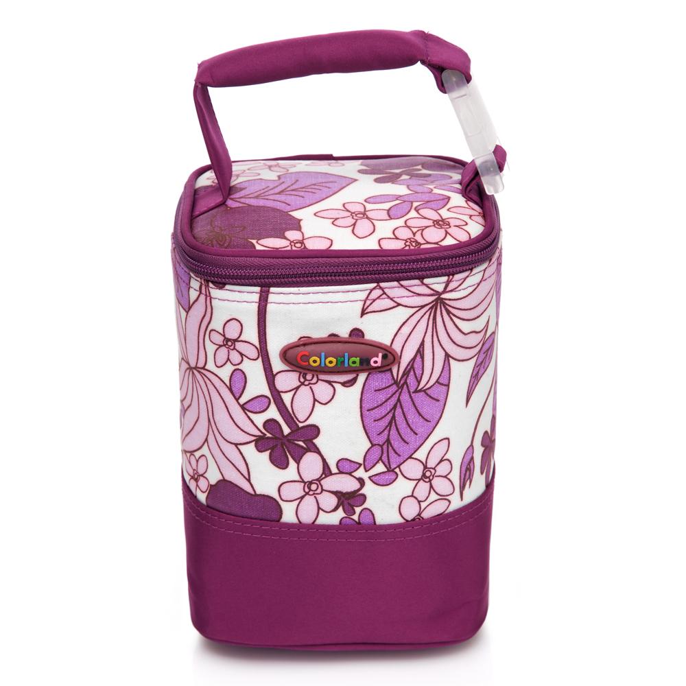 【Colorland】母乳保冷運輸袋副食品保溫袋(紫色大理石)