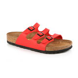 BIRKENSTOCK 054741。FLORIDA 佛羅里達 三條復古拖鞋(亮紅)