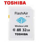TOSHIBA 東芝 32GB FlashAir WiFi SDHC W-03 無線傳輸 記憶卡