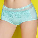 【思薇爾】輕Q彈系列刺繡蕾絲中低腰平口褲(春漾綠)
