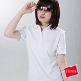 【美國原裝進口 Hanes 】百搭柔棉 POLO衫-女(淑女白)