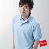 【美國原裝進口 Hanes】型男休閒POLO衫(天空藍)