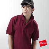 【美國原裝進口 Hanes】型男休閒POLO衫(褐紫紅)