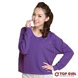 【TOP GIRL】 俏麗短版星星圓領長TEE(愛戀紫)