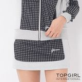 【TOP GIRL】經典千鳥格休閒褲裙-女(淺麻灰)