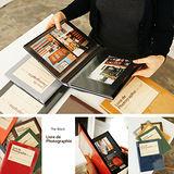 【韓國創意品牌 invite.L】韓國正品空運!! 吸附式相本 相簿 隨著心情擺放相片位置 書套貼心保護 繽紛多彩16色 (內頁黑)