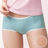 【華歌爾】PH5.5酸鹼平衡M-LL條紋中低腰平口褲(蜜粉膚)