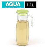 樂扣樂扣 沁涼玻璃冷水壺-橄欖綠色(1.1L)