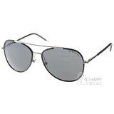 BURBERRY太陽眼鏡 率性飛行款(黑-銀) #BU3078J 100587