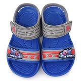 童鞋城堡-變形金剛 中大童 輕量玩水涼鞋TF3263-藍