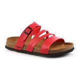 勃肯Betula 797163。CARACAS卡拉卡斯 細帶涼鞋(紅)