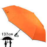 【2mm】超大運動型男54吋超大傘面自動開收傘(金橘橙)