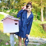 【w.p.c.】baby style。時尚雨衣/風衣(R1002)-深藍點點