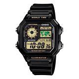CASIO 雷霆世界武士休閒數位錶 (膠帶/黃色液晶面)