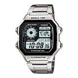 CASIO 雷霆世界武士休閒數位錶 (鋼帶)