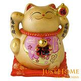 【開運納福】金運陶瓷5吋招財貓撲滿擺飾(3款可選)