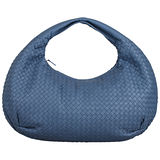 BOTTEGA VENETA 經典小羊皮編織肩背包皮革(淡藍)