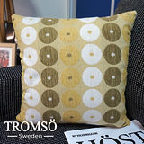TROMSO-立體織紋抱枕/普普圈圈(活潑綠)