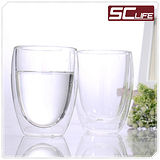 【SC life】雙層耐熱玻璃水杯