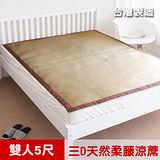 【凱蕾絲帝】台灣製造-三D止滑立體柔藤透氣紙纖涼蓆-雙人5尺