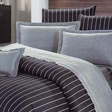 【Prawear】風範典雅(頂級雙人AB花版活性精梳棉六件式床罩組台灣精製)