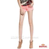 【BRAPPERS】 女款BoyFriendJeans系列-女用彈性條絨熱褲-蜜桃